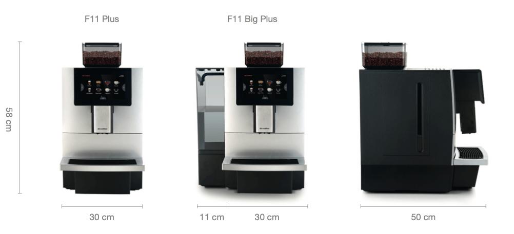 DR. Coffee F11 kavos aparato matmenys